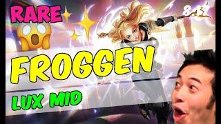 Froggen - Lux - Mid - Patch 8.17 Ranked Gameplay [RARE] League of Legends