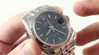 Rolex Datejust (ROULETTE DATE) 116234 Luxury Watch Reviews