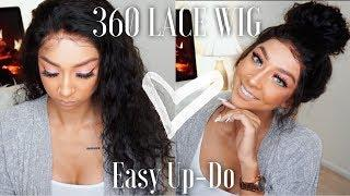 Easy Messy Bun + 360 Lace Frontal Wig | ChinaLaceWig Review | Lexi Luxury