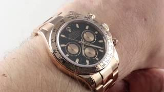 Rolex Daytona Cosmograph 116505 Luxury Watch Review