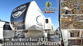 New Quick Tour 2019 CEDAR CREEK Hathaway Edition 38DBRK Rear Kitchen Luxury RV Camper Colorado