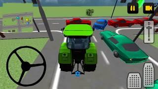 Luxury Car Transporter 3D #1 Tractor car transport game, tractor cartoon video