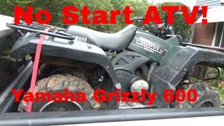 Yamaha Grizzly 600, No Start ATV comes to NY for repairs!
