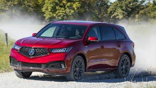2019 Acura RDX Apex Blue Pearl and MDX A Spec Performance Red Pearl Gravel Road