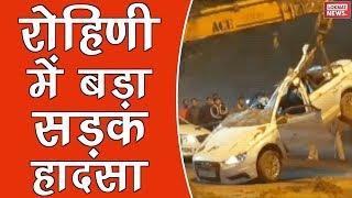 3 dead in road mishap as dumper turns over luxury car in Delhi's Rohini