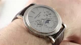 Patek Philippe Perpetual Calendar Moon Phase  5139G-001 Luxury Watch Review