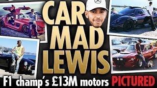 "Lewis Hamilton's Outrageous ""£13 MILLION"" Fleet Of Luxury Cars PICTURES 2018"