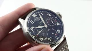 "IWC Big Pilot's Watch Perpetual Calendar ""Antoine De Saint Exupery""  IW503801 Luxury Watch Review"