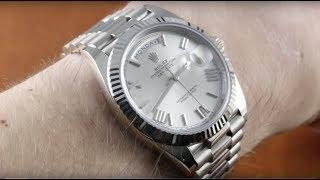Rolex Day-Date 40 WHITE GOLD (228239) Luxury Watch Review