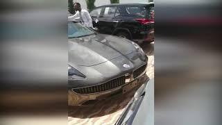 Rev  Obofour went to church today with over 25 luxury cars convoy