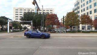 MUSTANG HITS CURB! CRAZY HOUSTON COFFEE AND CARS SHOW! December 2018