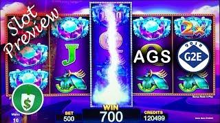 #G2E2018 AGS - Luck & Luxury, Rakin' Bacon, Golden Nile, Crystal Magic slot machines
