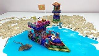 Amazing Build Luxury Yachts with Magnetic Ball and Slime - Playing With Magnetic Balls