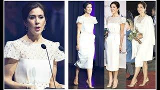 PRINCESS MARY OPTED FOR LUXURY JEWELS & DRESS TO PRESENT CEREMONY ALONGSIDE HUSBAND PRINCE FREDERIK