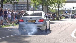 Cars Leaving a Car Meet! BMW M5 V10, Ford GT, C63, 350Z, SLR, Supra, GT-R