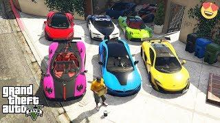 GTA 5 - Stealing LUXURY CARS With Franklin! (Expensive real cars)