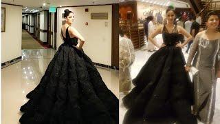 Saba Qamer Look pertty Black Barbie Dress Hum Style Award Red Carpet