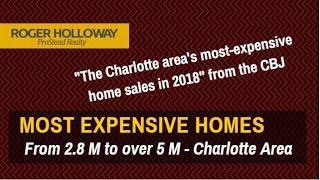 Charlotte NC Area 3 Million Dollar+ Luxury Homes including LKN Waterfront