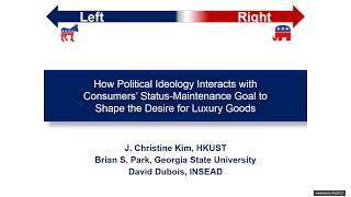 JM Webinar: How Conservatives and Liberals Buy Luxury Goods