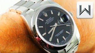 Rolex Datejust (Roulette Date, Steel) 116200 Luxury Watch Review