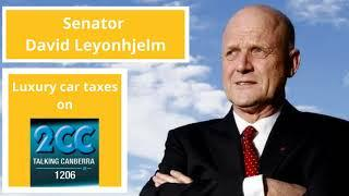 David Leyonhjelm with Tim Shaw on Luxury Cars