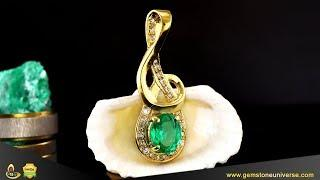 Colombian Emerald Pendant for Mercury Powers in Vedic Astrology