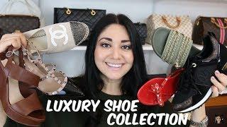 Luxury Shoe Collection | Chanel, Valentino, LV, Prada