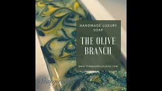 Making & Cutting The Olive Branch Luxury Cold Process Soap