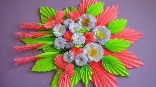 DIY. Simple Home Decor. Wall Decoration. Hanging Flower. Paper Craft Ideas #12