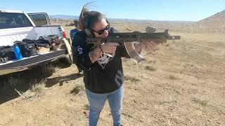 Test video: day at the range!!!  AK47 and M1 Carbine