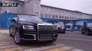 Putin's next car? New luxury Aurus Cabriolet gets a test drive