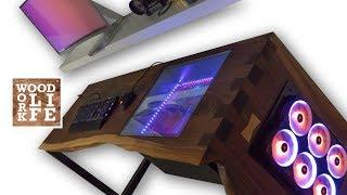 The ULTIMATE Live Edge Slab Desk PC - Gaming Computer ft. Threadripper 1950x & Sli 1080ti | Builds