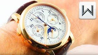 A. Lange & Sohne 1815 Rattrapante Perpetual Calander 421.032FE Luxury Watch Review
