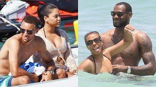 Stephen Curry's Family vs LeBron James's Family   Who is the most?