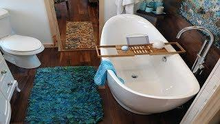 Luxury Tiny House w/ Gorgeous Bathroom & Gooseneck Bedroom | Small Home Design Ideas