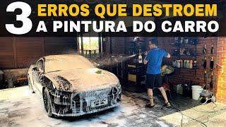 3 Erros quando você lava seu carro