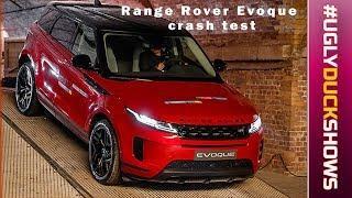 UGLY DUCK:  Посмотрите, как новый Range Rover Evoque разбивают на краш-тестах