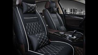 Car Seat Cover Black  leather | Luxury Cars Interior Design