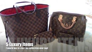5 LUXURY ITEMS I WOULD BUY IF I WERE TO START MY COLLECTION OVER| TAG VIDEO