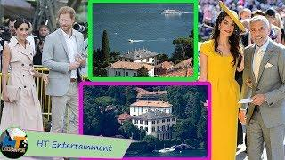 Harry and Meghan escap royal family with George & Amal at luxury Lake Como villa to relaxed