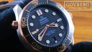 Omega Seamaster Diver 300m (Sedna Gold/Steel) 210.22.42.20.01.002 Luxury Watch Review
