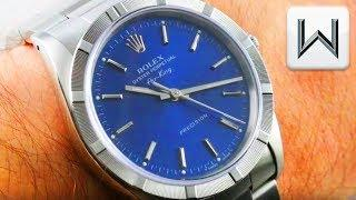 Rolex Oyster Perpetual Air King Engine Turned Bezel 14010M Luxury Watch Review