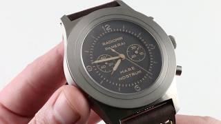 Panerai Mare Nostrum Titanio PAM 603 Special Series Luxury Watch Review