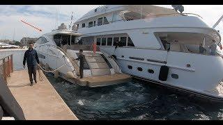 Docking A Luxury Yacht In Cannes & Onboard Tour (Captain's Vlog 53)