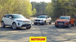 2019 Range Rover Evoque vs Volvo XC40 vs Audi Q3 review | Best small SUVs | Autocar