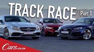Track Battle | Mercedes C63S vs BMW M4 vs Audi RS5 - Part 1