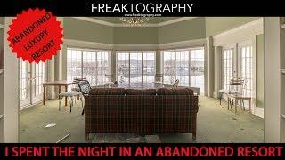 Abandoned Luxury Resort Over Night Sleepover and Urban Exploration | Derelict Urbex Ghost Adventures