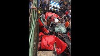 Ferrari car accident in india 2018.Nothing else