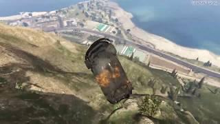 Grand Theft Auto 5 - Driving Luxury Cars Off Mt Chiliad (GTA 5)