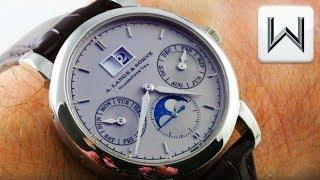 A. Lange & Sohne Saxonia Annual Calender Platinum (330.025) Luxury Watch Review